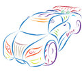Sports car sketch illustration abstract Royalty Free Stock Photography