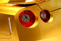Sports car tail lamp of a special edition from nissan Stock Photo