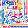 Sports Champion Word Doodles Vector Illustration Royalty Free Stock Photography