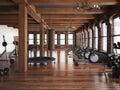 Sports club cross fit gym interior