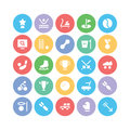 Sports Colored Vector Icons 9 Royalty Free Stock Photo