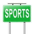 Sports concept illustration depicting a sign with a Royalty Free Stock Photos