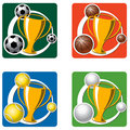 Sports cups and trophies Stock Image