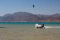 Sports in dahab of egypt back on mount sinai superior terrain let there be sailing aquatic paraglider surfing scuba diving sea Royalty Free Stock Photo