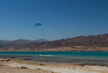 Sports in dahab of egypt back on mount sinai superior terrain let there be sailing aquatic paraglider surfing scuba diving sea Stock Image