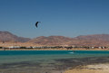 Sports in dahab of egypt back on mount sinai superior terrain let there be sailing aquatic paraglider surfing scuba diving sea Royalty Free Stock Photos