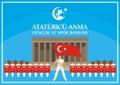 Sports day of Turkey banner