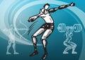 Sports_discus throw Royalty Free Stock Photo