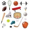 Sports Equipment Icons Set Royalty Free Stock Photo