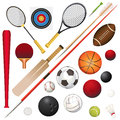 Sports equipment a vector illustration of various Royalty Free Stock Photo