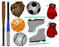 Sports equipments Royalty Free Stock Photography