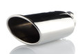 Sports exhaust pipe for the car on white background Royalty Free Stock Photography