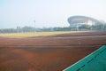 Sports Field In Morning