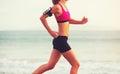 Sports Fitness Woman Running O...