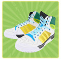 Sports footwear Royalty Free Stock Photography