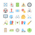 Sports and Games Flat Colored Icons 2