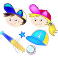 Sports Girl and boy Stock Images
