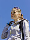 Sports Girl With Sunglasses On...