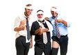 Sports group of injured businessmen after a game Royalty Free Stock Photos