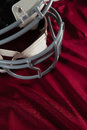 Sports helmet on jersey Royalty Free Stock Photo