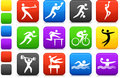Sports icon collection Royalty Free Stock Photos
