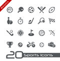 Sports Icons // Basics Royalty Free Stock Photo
