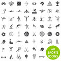 Sports icons basics  Royalty Free Stock Images