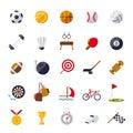 Sports Icons Flat Design Isola...