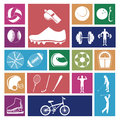 Sports icons over white background illustration Royalty Free Stock Image