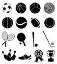 Sports icons set Royalty Free Stock Photo