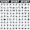 Sports icons set. Royalty Free Stock Photo