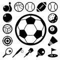 Sports icons set illustration eps Royalty Free Stock Photography