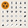 Sports icons set illustration eps Royalty Free Stock Photos