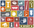 Sports icons simple of the goods and accessories Royalty Free Stock Photo