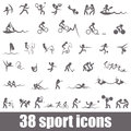 Sports icons summer pictograms Royalty Free Stock Photo