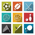 Sports icons vector collection of flat Stock Images