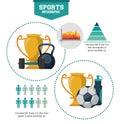 Sports infographic design