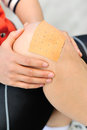 Sports injured knee Royalty Free Stock Photo
