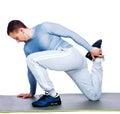 Sports Man Stretching