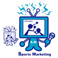 Sports marketing  mascot. Education and life Character Design se Royalty Free Stock Photo