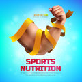Sports nutrition illustration on colorful background