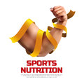 Sports nutrition illustration