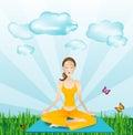 Sports outside - yoga girl
