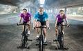 Sports People Training Bike Ri...