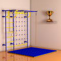 Sports Playground Wall Bars for children. 3d Rendering Royalty Free Stock Photo