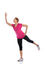 Sports practicing a dance zumba young attractive woman Stock Photos