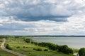 Sports and recreation in auto kemping on Plesheevo lake resort Royalty Free Stock Photo