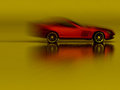 Sports Red Car in motion Royalty Free Stock Photo