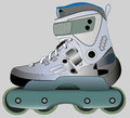 Sports roller skates vector illustration isolated object Stock Photos