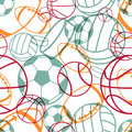 Sports seamless pattern Royalty Free Stock Photos